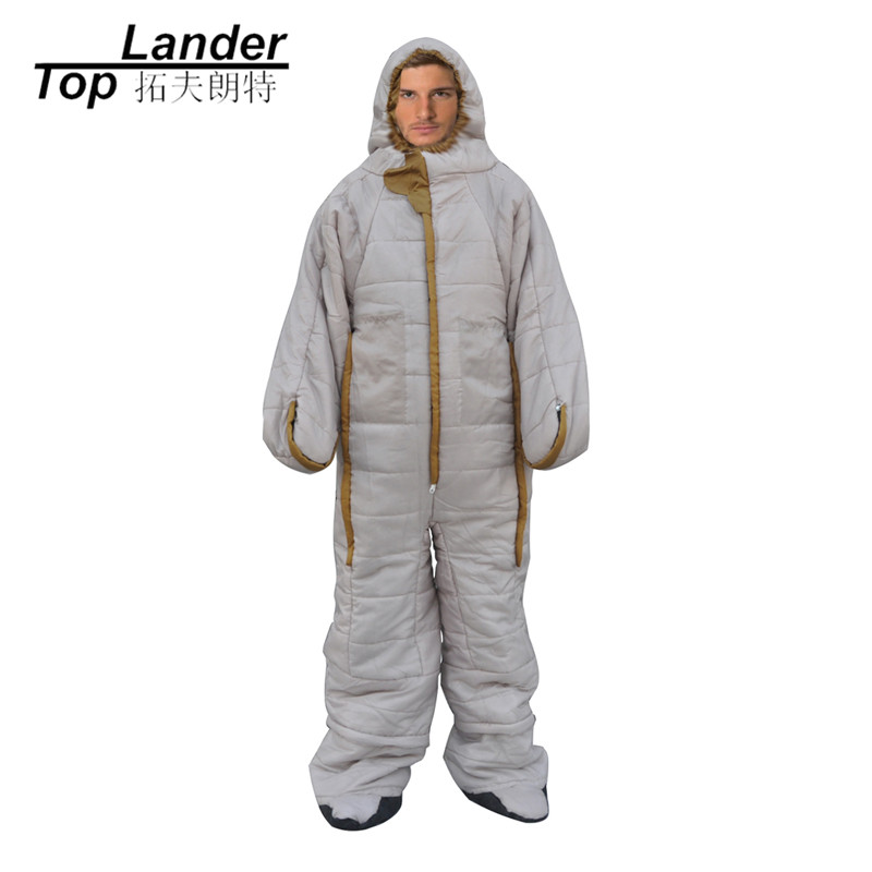 Adult Human Shape Sleeping Bag for Outdoor Camping Indoor Sleeping Bags Clothing Cotton Sleeping Bag brand adult sleeping bags outdoor camping large widening thickening winter keep warm cotton sleeping bag fleece sleeping bag