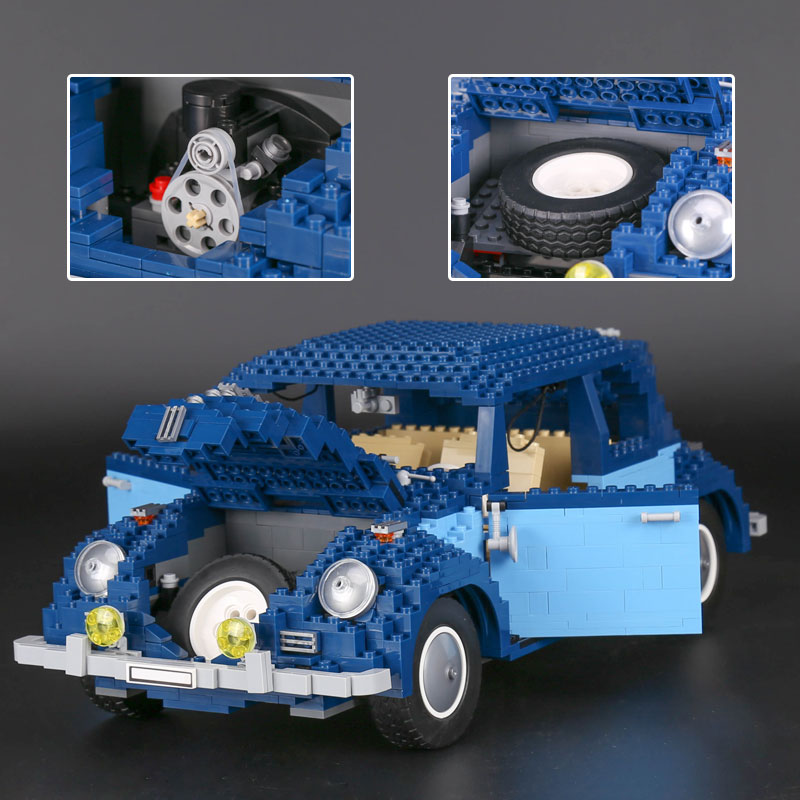 lepin 21014 Creator series the Beetle model Building Blocks Compatible LegoINGly 10187 Classic Technic car-styling toys children lepin 21003 series city car beetle model building blocks blue technic children lepins toys gift clone 10252