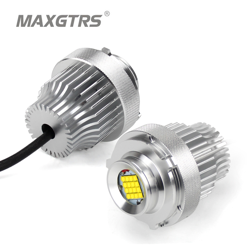2x 80W LED Marker Angel Eye Halo Ring Bulb For BMW E60 E61 LCI 2008 2010