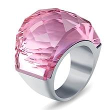 Luxury Brand Crystal Jewelry Ring 316L
