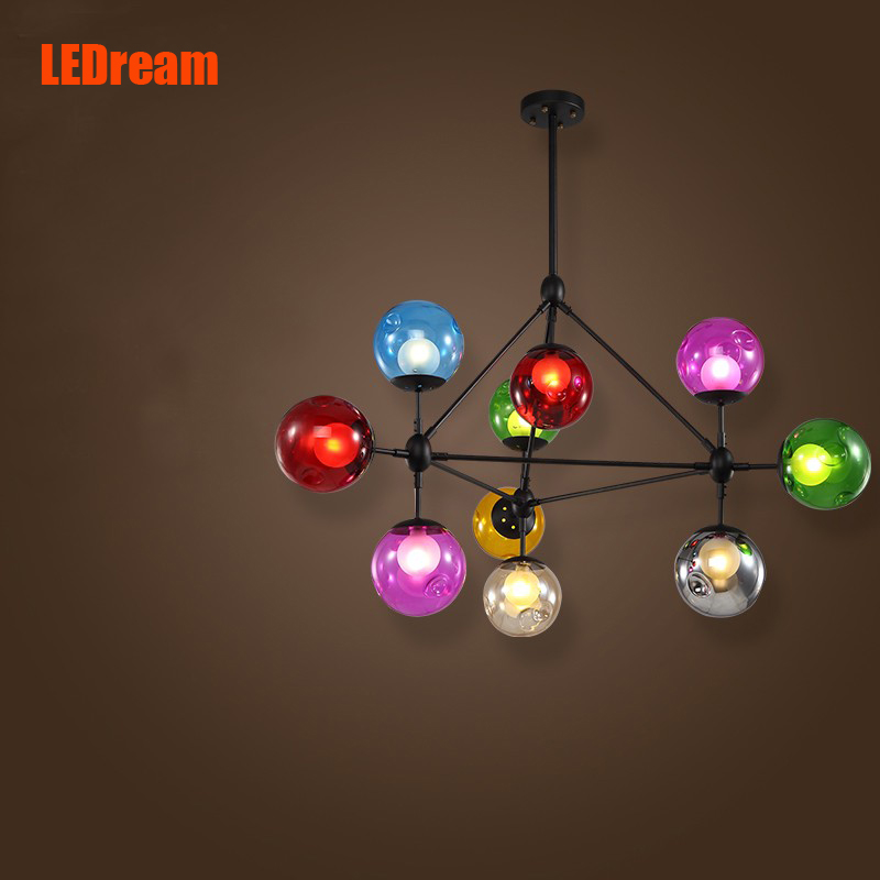 New 10 head Creative personality magic beans retro industrial chandeliers  sitting room lights  American Loft art lights industrial chandeliers ancient magic beans chandelier dining room sitting room art pendant lamp northern europe