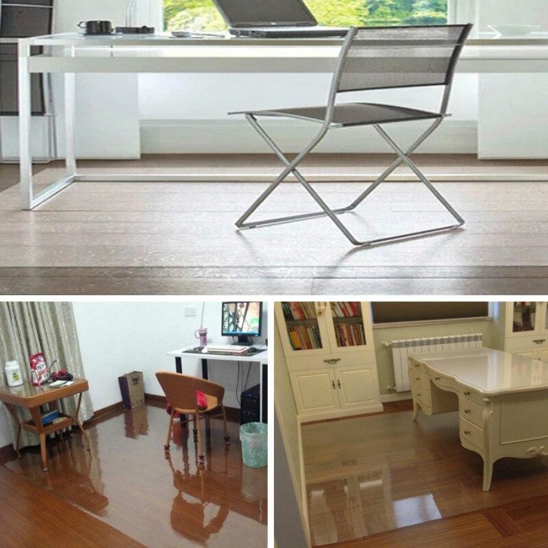Tapis De Chaise Protection Sol En Bois Bureau PVC Anti Derapant Transparent Impermeable Pour Salon Literie Cuisine Dans Maison