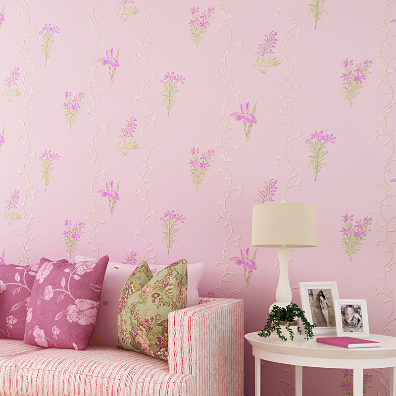 beibehang flowers non woven wallpaper for TV background mural wall paper For living room bedroom wall murals contact paper roll