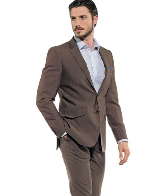 Men Suits Brown Smart Business Suits Wedding Suits Formal Tailored