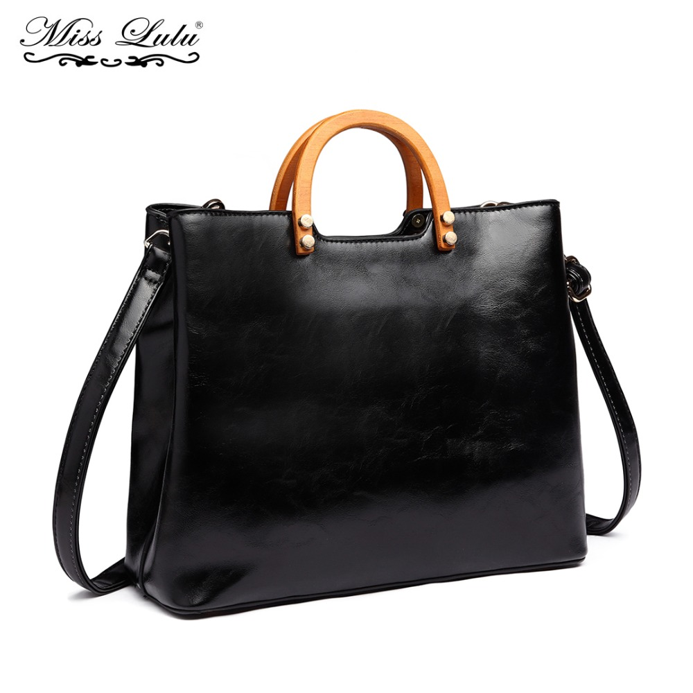 Miss Lulu Women Handbag Female Shoulder Bags Cross Body Bag for Girls Ladies High Quality PU Leather Top-handle Tote LT1808