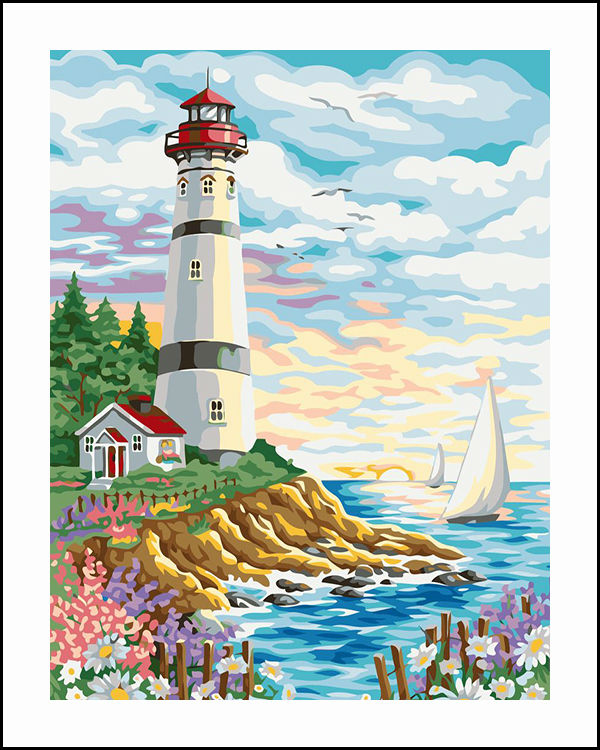 Seaside Beacon Embroidery DIY Diamond Painting 5D Cross Stitch Mosaic Pattern Square Rhinestone needlework gift Home Decor K016
