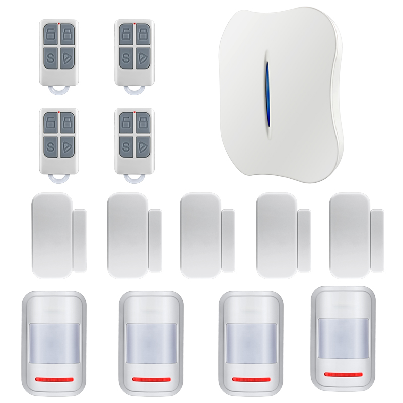 Intelligent Alarm Android IOS APP Control Voice Prompt Alarm WiFi PSTN Home Burglar Alarm System for Home Security 24v truck anti theft intelligent system voice prompt alarm protection security system