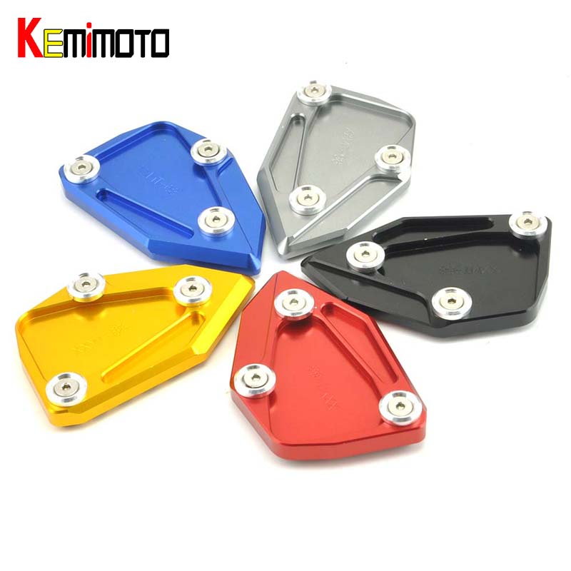 KEMiMOTO For BMW Motorcycle Side Stand Plate Pad  Kickstand For BMW C600 SPORT(k18) 2012-2015 C650 GT (K19) 2012-2016 for bmw f800r 2009 2012 2013 2014 hp2 08 motorcycle cnc aluminum side stand enlarger cnc kickstand pate pad side stand enlarger