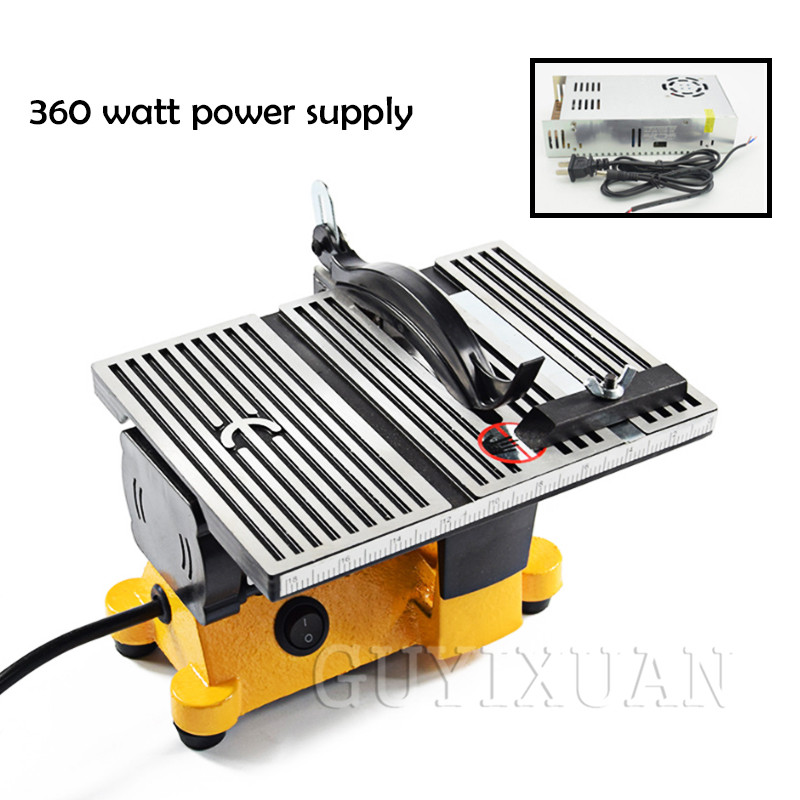 Mini Table Saw Handmade Woodworking DIY Model Electric Polishing Cutting Tool Aluminum Alloy Circular Saw Blade 110V/220V