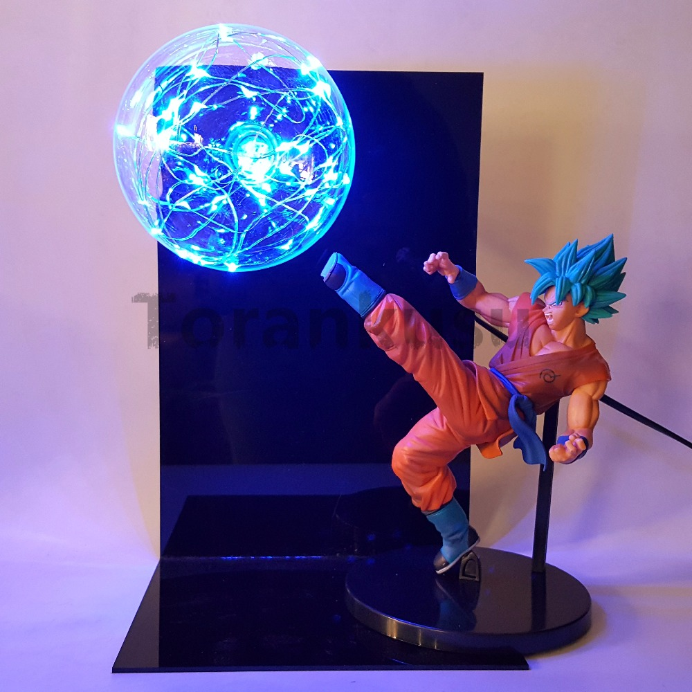 Dragon Ball Z God Goku Super Saiyan Action Figures Led Light Anime Dragon Ball Z DBZ FES God Son Goku Lamp dragon ball z son goku vs broly super saiyan pvc action figures dragon ball z anime collectible model toy set dbz