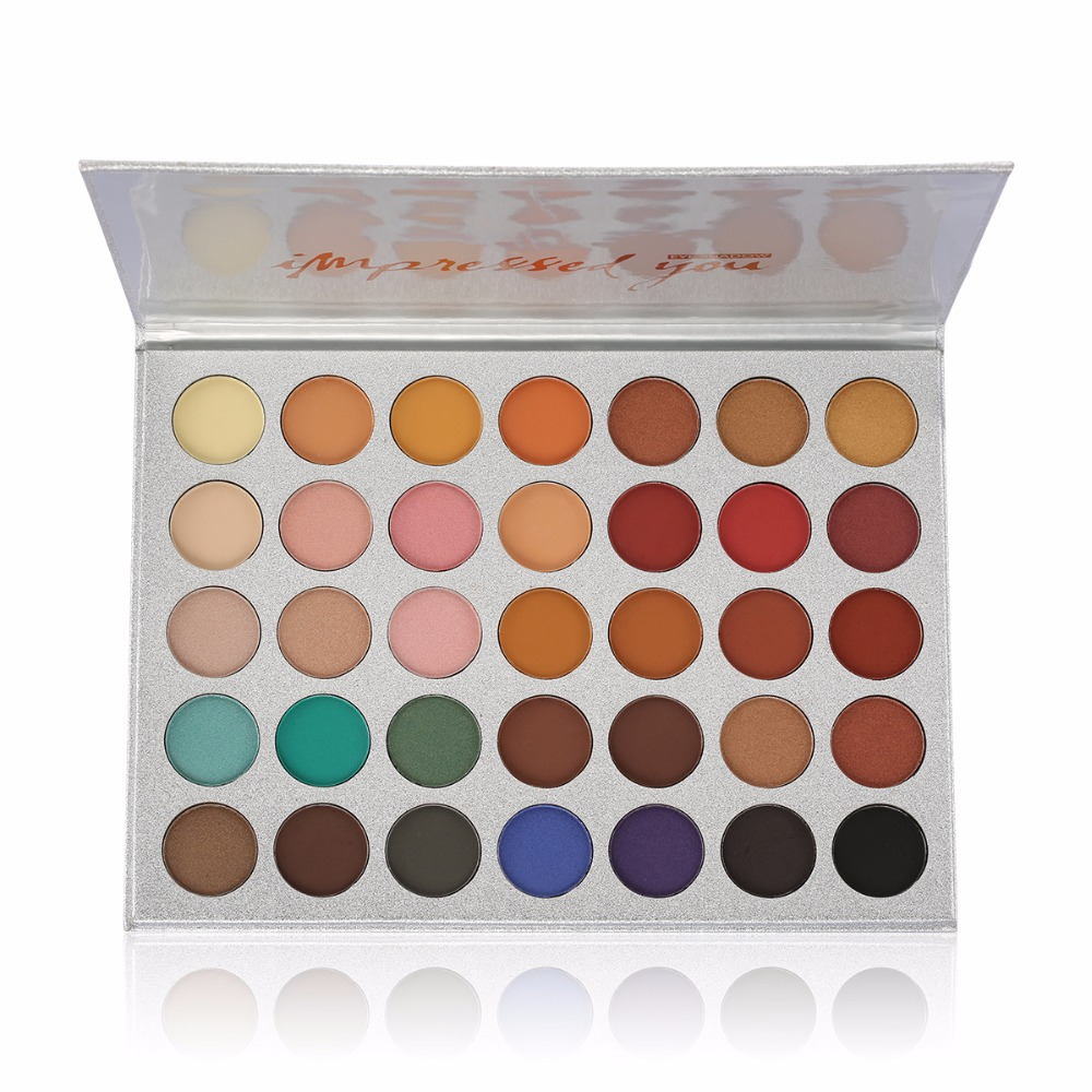 Chic 35 Color New Face Makeup Eyeshadow Palette Shades Shimmer Matte Eyeshadow Pallete Cosmetics For morphes Style