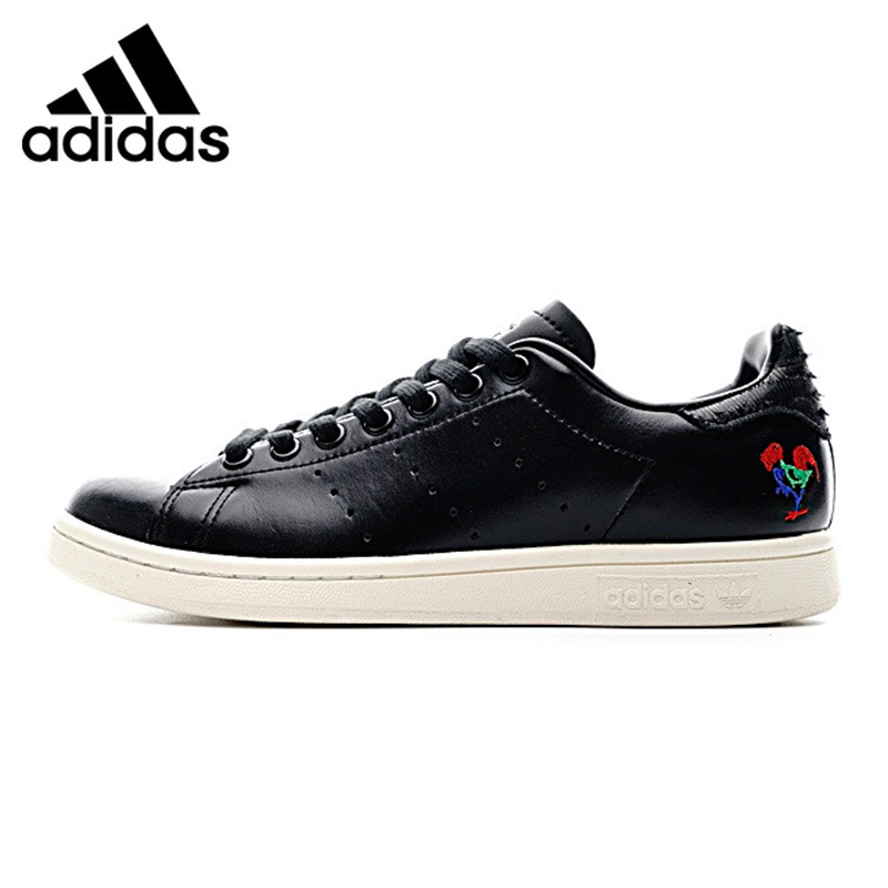Adidas Stan Smith CNY Men's Walking Shoes ,Black ,Abrasion Resistant Breathable Non-slip Lightweight BA7779 adidas stan smith shamrock men s and women s walking shoes pink grey balance lightweight breathable s75075 s80024
