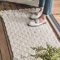 Kelim Solide baumwolle marokko wohnzimmer Teppich geometrische weiß blau Indische Teppich böhmen gestreiften Moderne Matte design Nordic stil