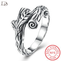 DODO Vintage 925 Sterling Silver Rings For Women Fashion Bole Design Party Bague Authentic Fine Jewelry
