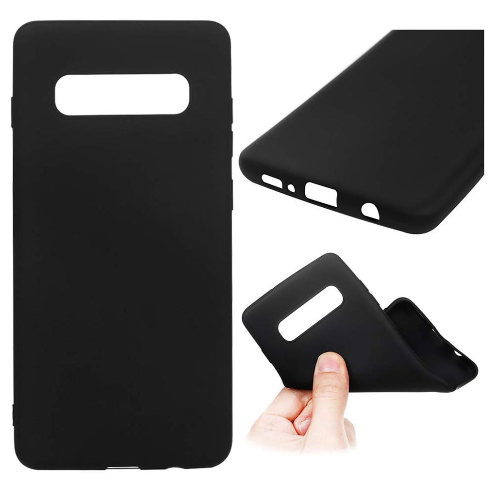 2019 New Soft Silicone TPU Case Cover 6.1 Inch Solid Phone Cases Cover For Samsung Galaxy S10