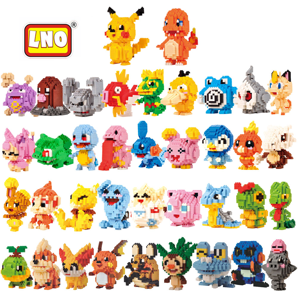 LNO New Arrival Toys Hobbies Nanoblock Anime Figures Toys 3D Cartoon Model Building Brick Micro Animals Educational Toys For Kid hot toys nanoblock world famous architecture statue of liberty building blocks mini construction brick model iblock fun for kid