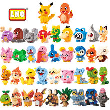 LNO New Arrival Toys Hobbies Nanoblock Anime Figures Toys 3D Cartoon Model Building Brick Micro Animals Educational Toys For Kid
