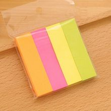 Fashionable Color Notes Paper Message Clip Office Fluorescence Sticky With Pepsi Paste Stickiness