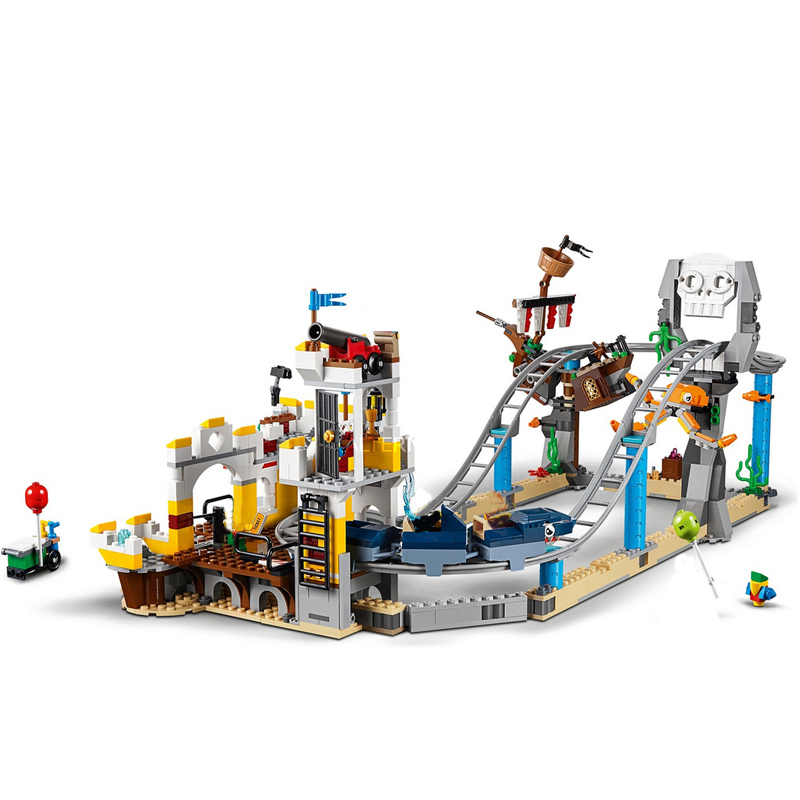 Image 3 - New Creators Builerds Set Pirate Roller Coaster 3 in 1 Compatible Legoing Creator 31084 Building Educational Toy Christmas Gifts-in Blocks from Toys & Hobbies