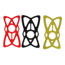 Etmakit 3pcs Red/black/yellow High Tensile Silicone Rubber Navigator Phone Fixer Security Bands for Bike Mount Holder Handlebar