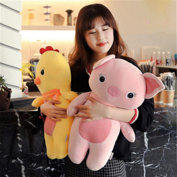 Fancytrader Soft Animals Pillow Doll Stuffed Chick Elephant Pig Sheep Koala Plush Toys for Children 55cm 22inch