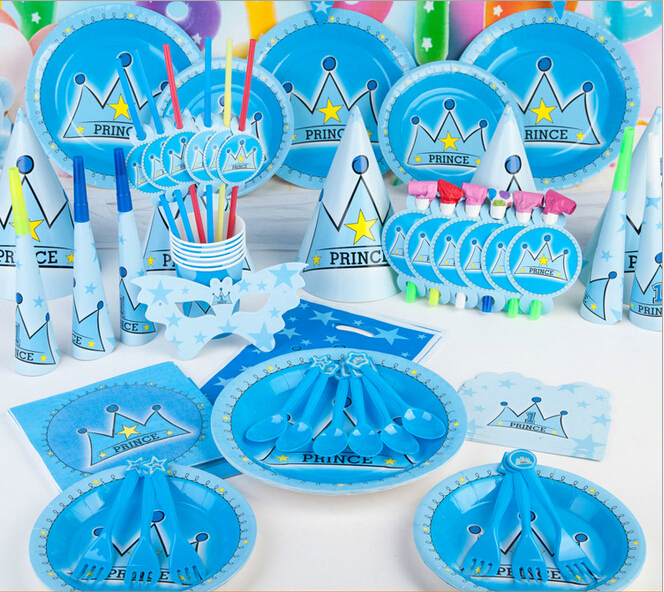 Luxury prince theme party adult baby shower festival for Baby shower decoration set
