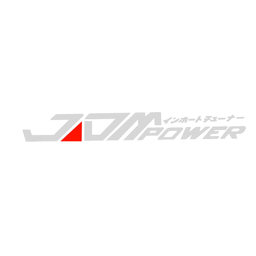 Etiqueta reflectante a prueba de agua JDM Power coche pegatina vinilo para BMW Skoda Audi Peugeot Volkswagen Ford Buick Kia