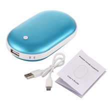 Russia Link 2pcs/lot Multifunctional Portable Electric Heater As Hand Warmer Pocket Heater 5200mah Power Bank