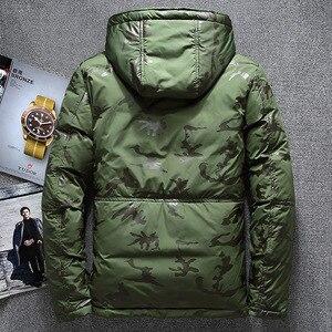 Image 5 - ฤดูหนาวใหม่อบอุ่นเป็ดสีขาว Downs แจ็คเก็ตผู้ชาย Outwear หิมะหนา Parkas Hooded Coat ชาย Windproof Downs เสื้อผู้ชาย
