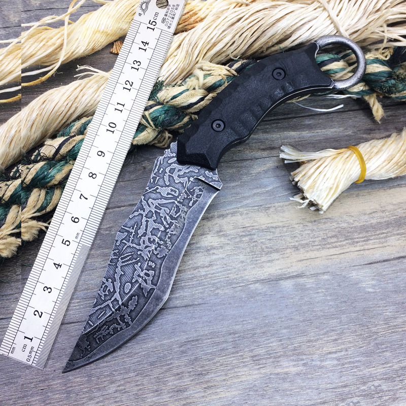 New Arrival Custom VG10 Tactical Fixed Blade Knife,S020B Survival Hunting Knife,Outdoor Pocket Knives,EDC Survival Knives Tools