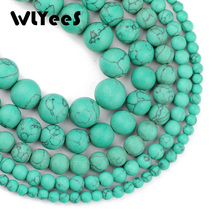 WLYeeS Matte Green Calaite Stone 4/6/8/10/12 MM Natural Round ball Loose beads for jewelry accessories bracelet making DIY