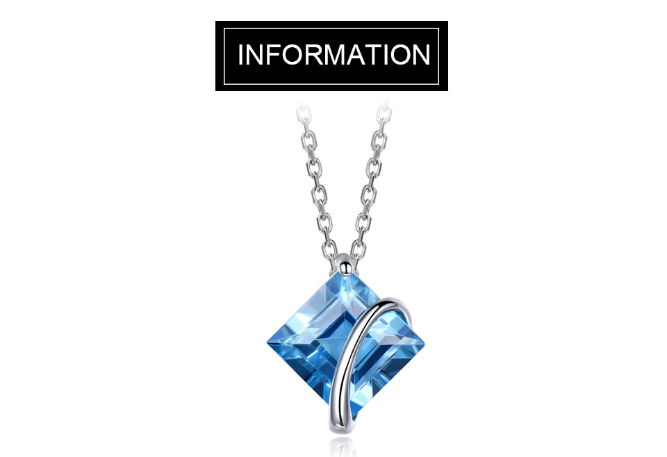 Natural Swiss blute topaz set for women SCG001B-1 (1)