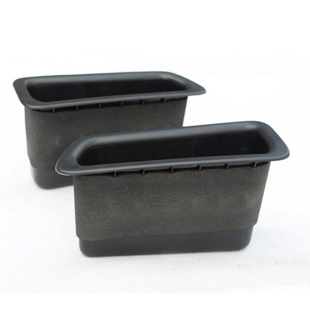 Moonet 2 pcs caixa de armazenamento da porta traseira do carro para 09-14 volvo s60 v60 carro preto acessórios qc016