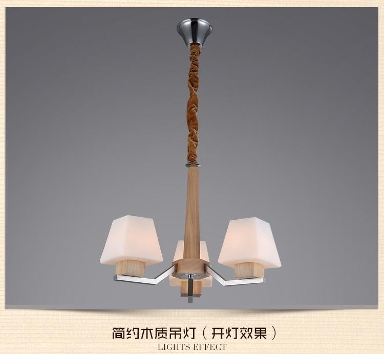 The New Features Of The New Nordic Furniture Wooden Chandelier Lighting Lighting 3 Antique Bedroom Creative Restaurant Hanging H