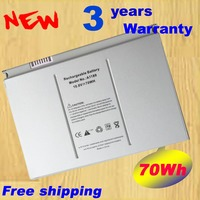 6600mAh Laptop Battery A1189 For Apple MacBook Pro 17 Inch MA092T MA897X A MA611B A1151 A1212