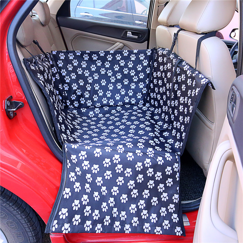 Waterproof Pet Carriers Paw Cloudpattern Pet Dog Cat Car Rear Back Portable Pet Dog Mat Hammock Cushion Car Seat Cover Protector