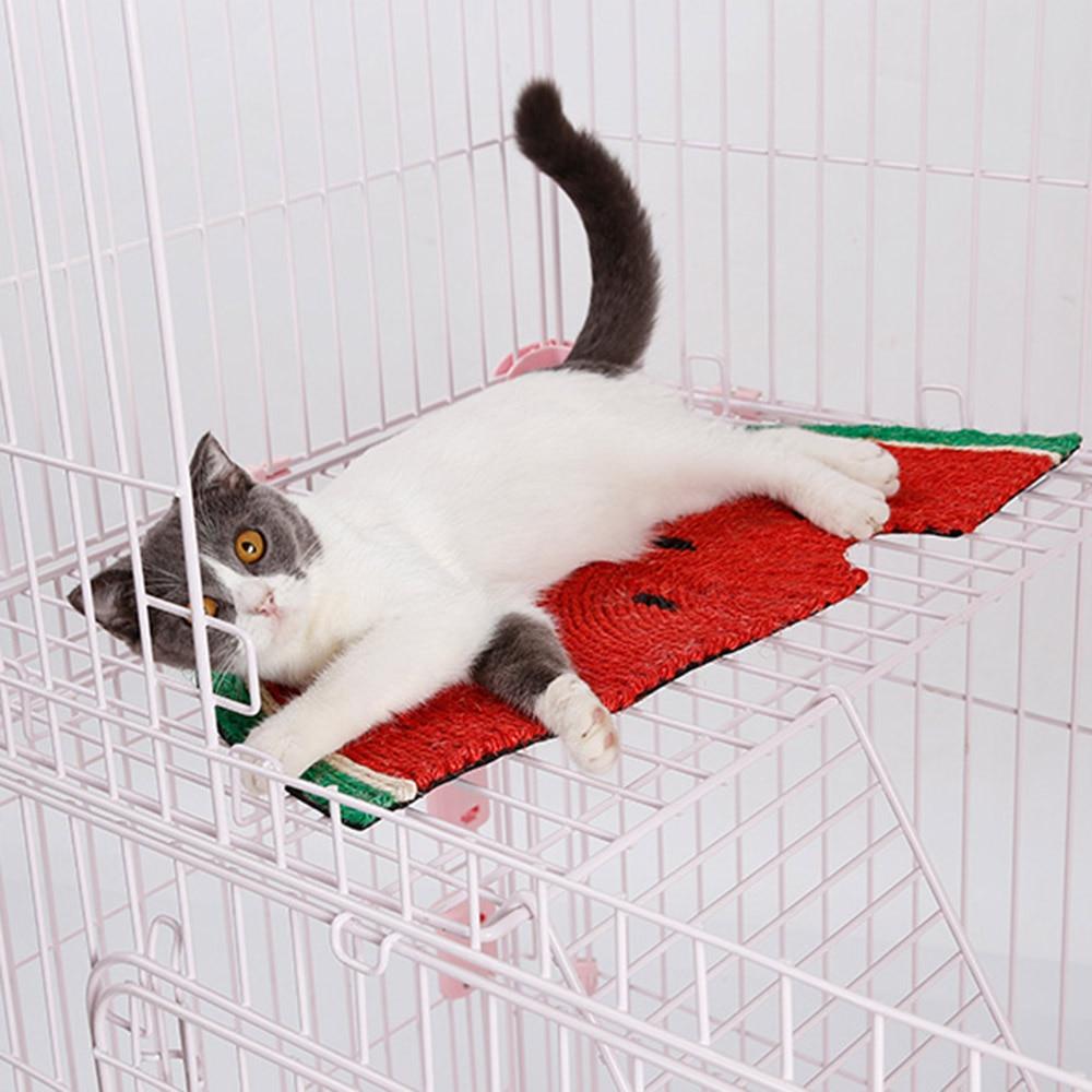 Cute Cat Scratch Board Natural Sisal Scratch resistant Cat Scratching Watermelon Blanket Cat Scraper Mat Pet Products Funny Toy in Furniture Scratchers from Home Garden