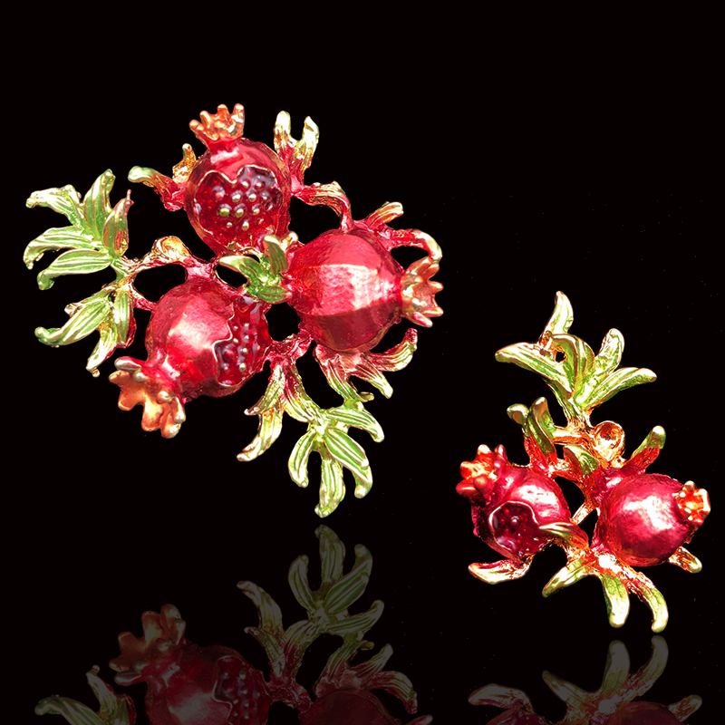 2018New 30Pcs Red Pomegranate flower Buttons for DIY Hair accessories and Wedding Bridal decoration ZJ434-ZJ435