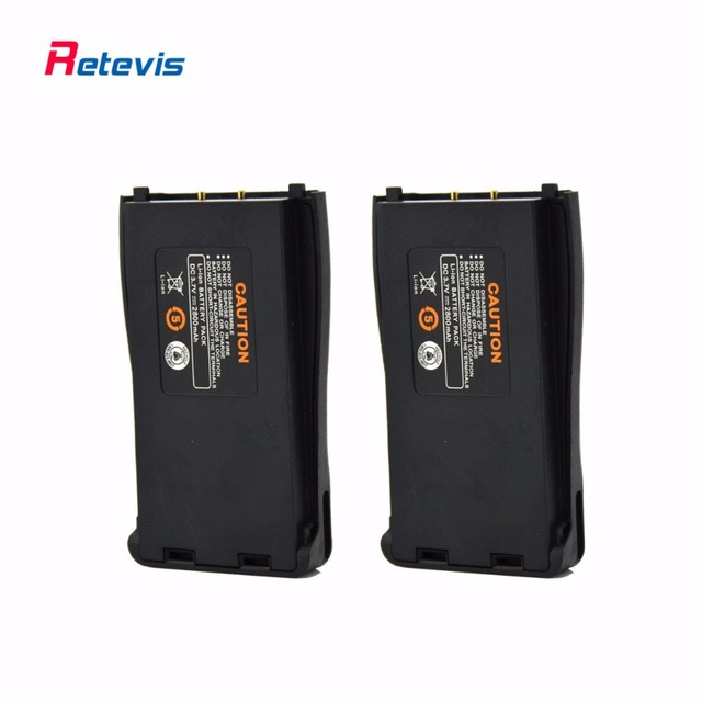 2pcs Large Capacity 2800mAh Rechargeable Li-ion Battery For Retevis H777 Baofeng BF777S BF-888S BF666S Walkie Talkie Accessories