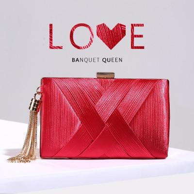 9f59357b9afc Дешевле красный Ткань сумка Свадебная вечеринка кошелек напульсники  кисточки модные сумки клатч дамы вечерние сумки