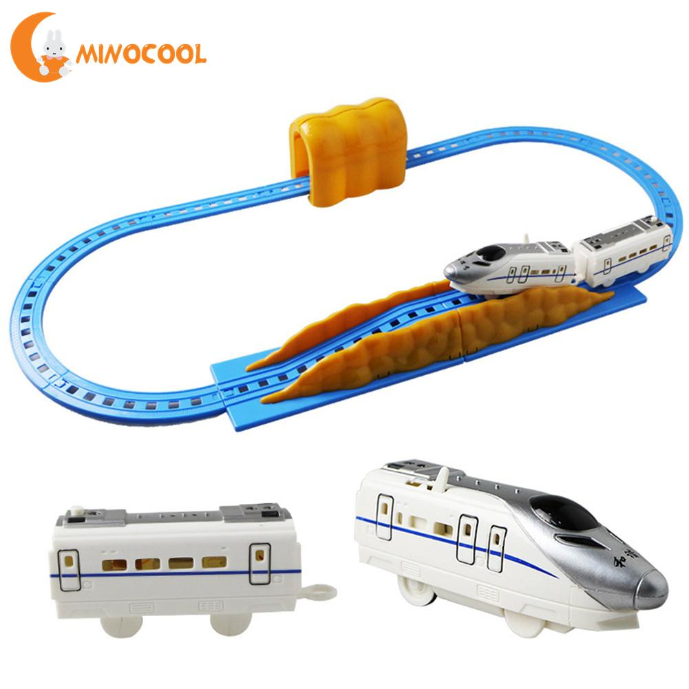 Kids Electric Railway Train Rail Track Toys Electric Train High-speed Rail Compatible With Trains Tracks For Children Boys