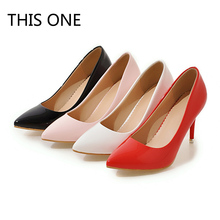 Hot sell 2018 New High-heeled Shoes Woman Pumps Wedding Shoes Fashion Sexy Women Shoes Classic Black Pink White Red High Heels brooks men s ravenna 6 shoes white high risk red black 12 d