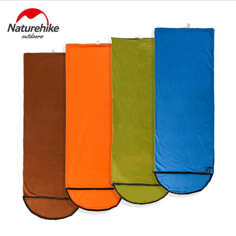 Naturehike Outdoor ultralight Travel Sleeping Bag liner Envelope Camping spring autumn Polar Fleece Sleeping Bag Can be spliced