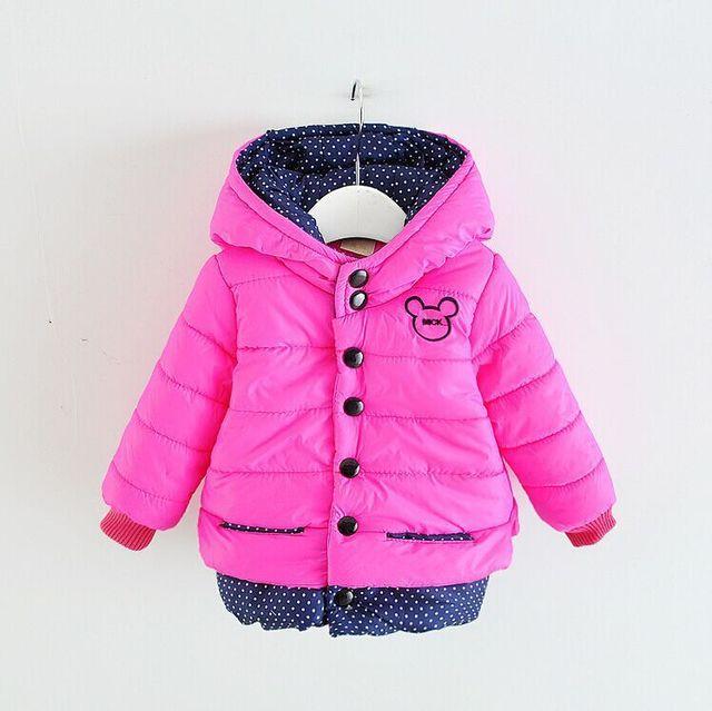 Завод прямых продаж однобортный мода , чтобы согреться капюшоном мультфильм детский пальто