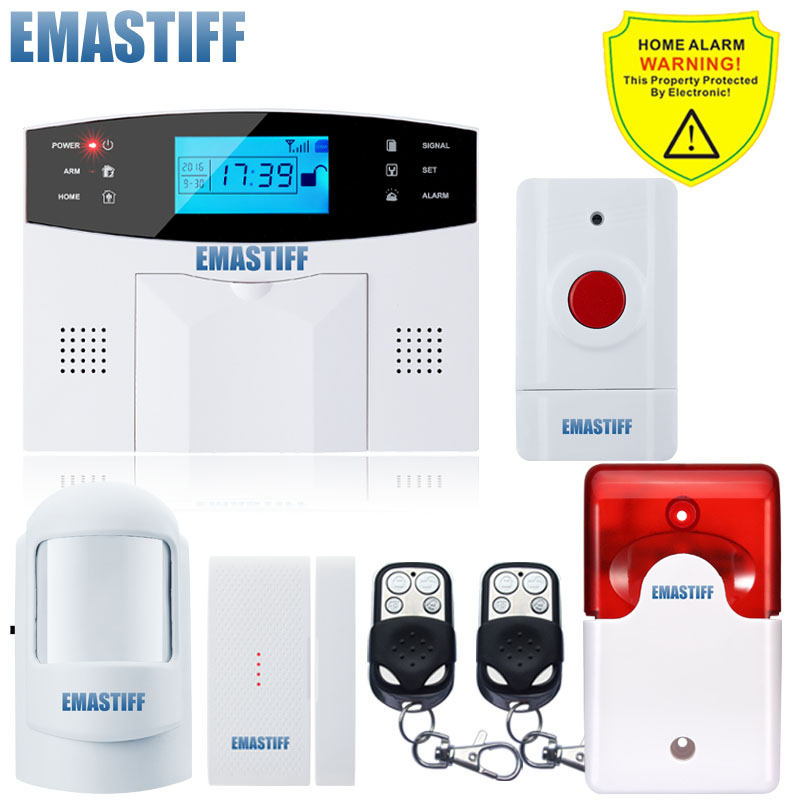 APP English/Russian/French/SpanishVoice Wired Wireless SOS Panic Button LCD Home Security GSM SMS Alarm System Auto Dialer 2 receivers 60 buzzers wireless restaurant buzzer caller table call calling button waiter pager system