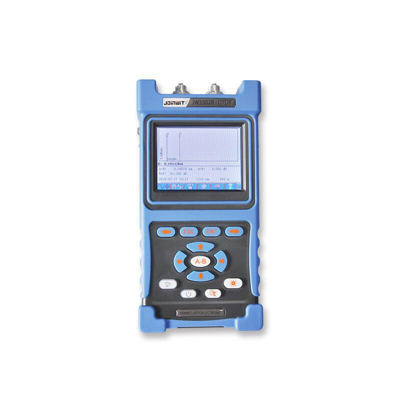 Handheld OTDR JW3302-SM-OTDR-1310-1550nm-30-28dB,Integrated VFL, Touch Screen Optical Time Domain Reflectometer VFL BY DHL