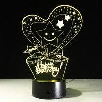 Wholesale acrylic lamp led 3D visual creative birthday lamp decoration new sensor light