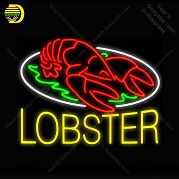 Neon Sign for Lobster Fresh Sea Food Neon Bulb Sign Display Beer Bar Light up Restaurant Accesarie Room Custom nein sign Lamp