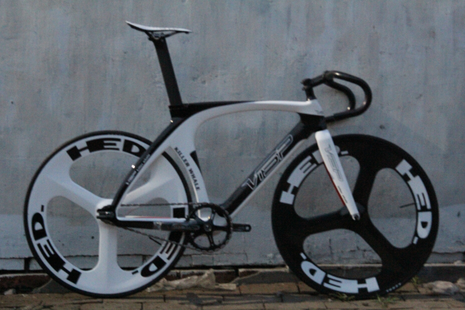 Bicycle visp killing whale Fixed gear carbon fiber bike (frame+ ...