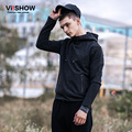 VIISHOW Mens HoodIES and Sweatshirts Zip Pocket Brand Clothing Men Hoodies Fashion Hip Hop Tracksuits Men Sweatshirt Coat XXXL